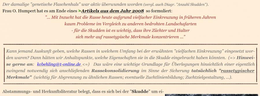 Ostpreußische Skudde & mehr???