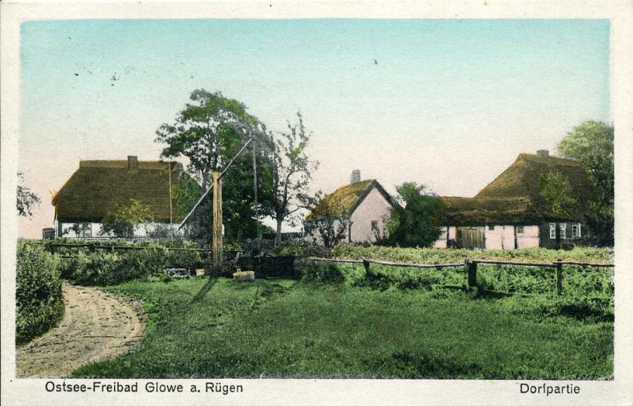 Ostsee-Freibad Glowe a. Rügen Dorfpartie