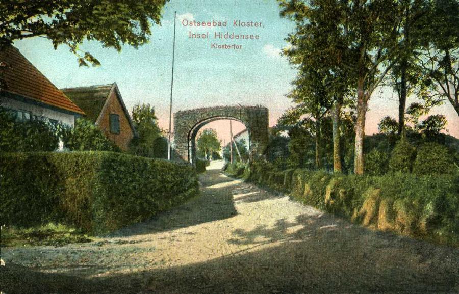 Ostseebad Kloster Insel Hiddensee Klostertor