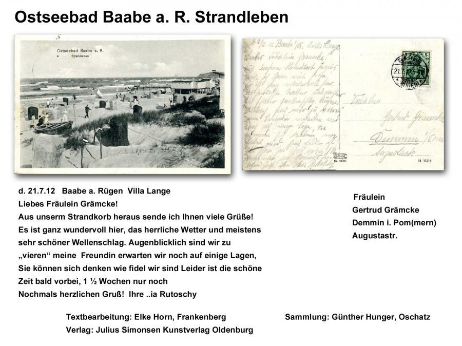 Ostseebad Baabe a. R