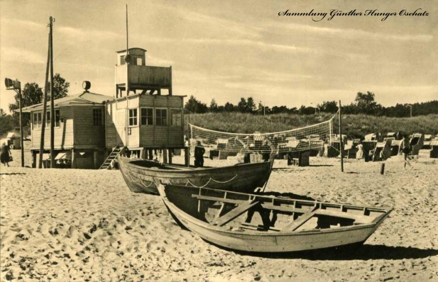 Ostseebad Baabe Rettungsstation am Strand
