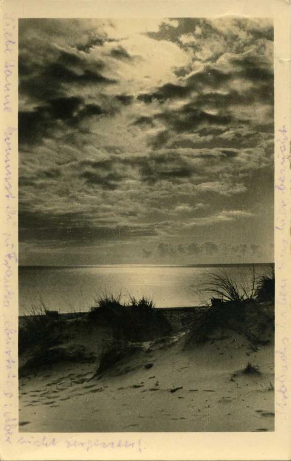 Ostseebad Baabe Sonnenaufgang 1955