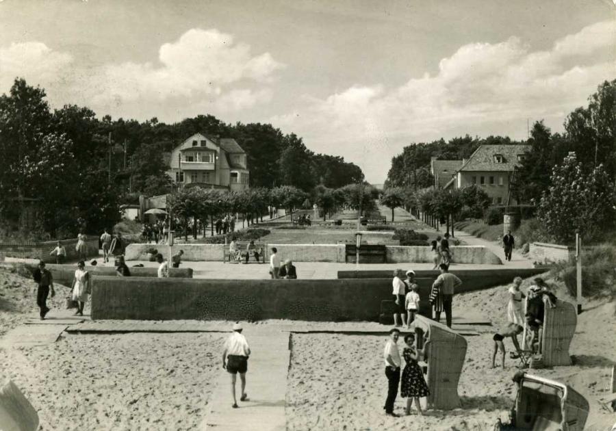 Ostseebad Baabe Strandpromenade 1962