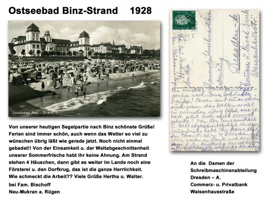 Ostseebad Binz-Strand 1928