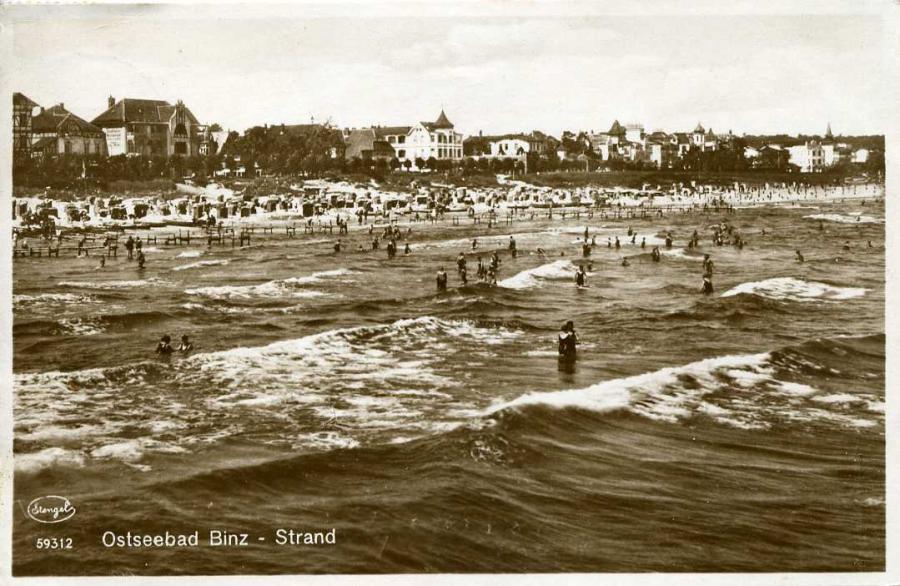 Ostseebad Binz -Strand 1928