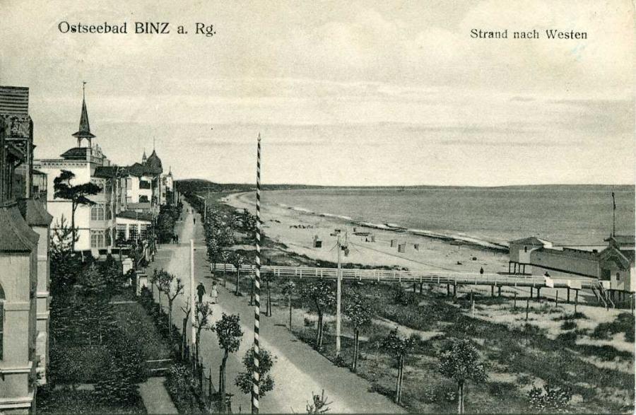 Ostseebad Binz a. Rg. Strand nach Westen