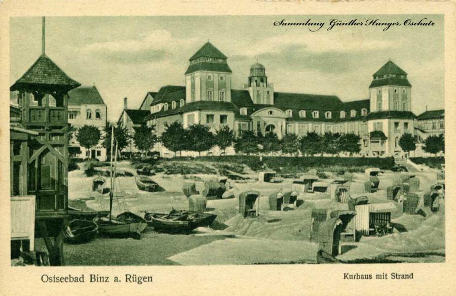 Ostseebad Binz a Rügen Kurhaus mit Strand