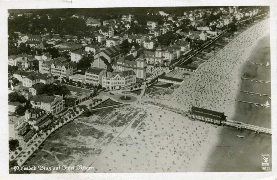 Ostseebad Binz auf Insel Rügen 1942