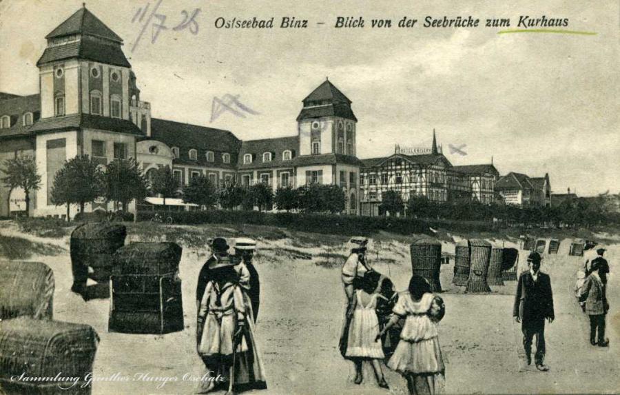 Ostseebad Binz Blick von der Seebrücke