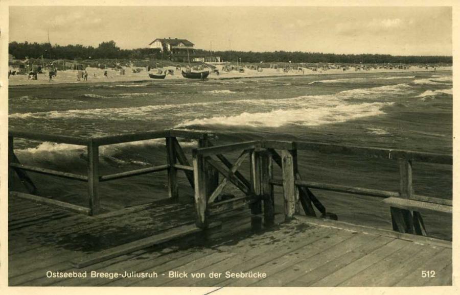 Ostseebad Breege-Juliusruh - Blick von der Seebrücke 1937