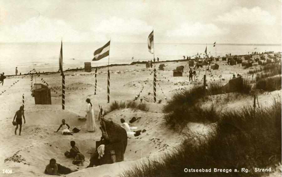 Ostseebad Breege a. Rg. Strand 1926