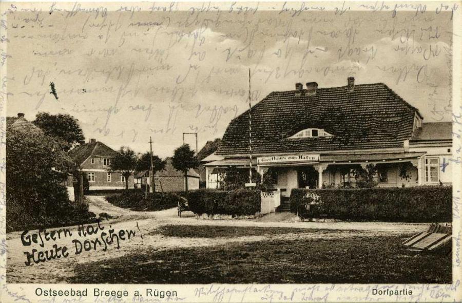 Ostseebad Breege a. Rügen Dorfpartie 1933
