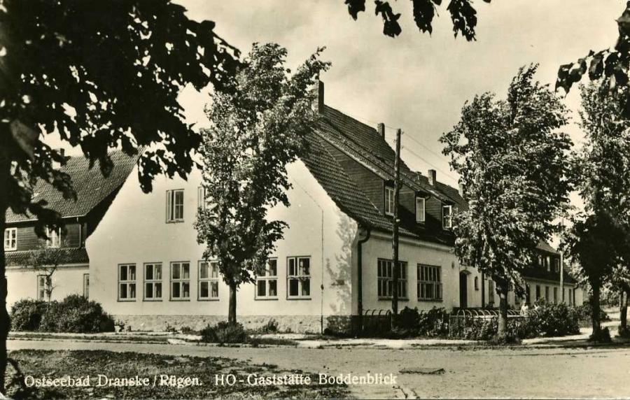 Ostseebad Dranske HO-Gaststätte Boddenblick 1957