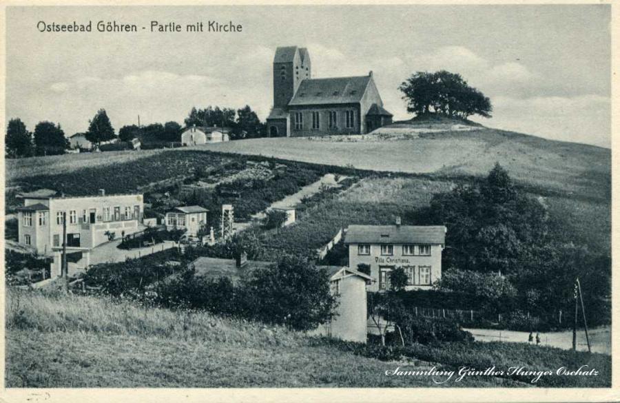 Ostseebad Göhren - Partie mit Kirche
