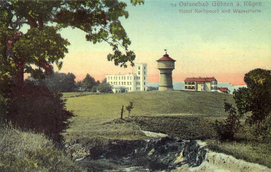 Ostseebad Göhren Hotel Nordpeerd mit Wasserturm