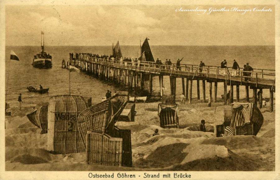 Ostseebad Göhren Strand mit Brücke