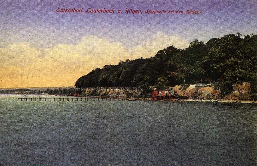 Ostseebad Lauterbach Uferpartie bei den Bädern