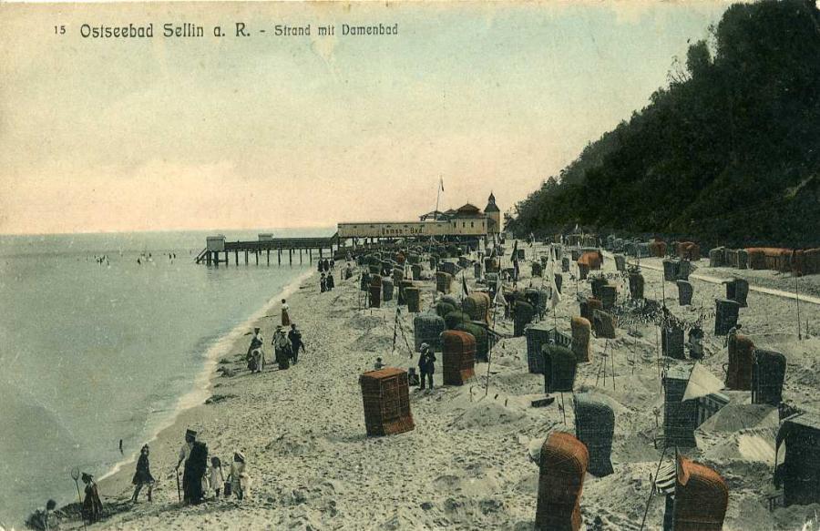 Ostseebad Sellin a. R. Strand mit Damenbad