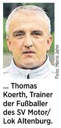 OVZ 2014.08.02 Fussball SG Lok Motor I Drei Fragen an Trainer Thomas Koerth Bild