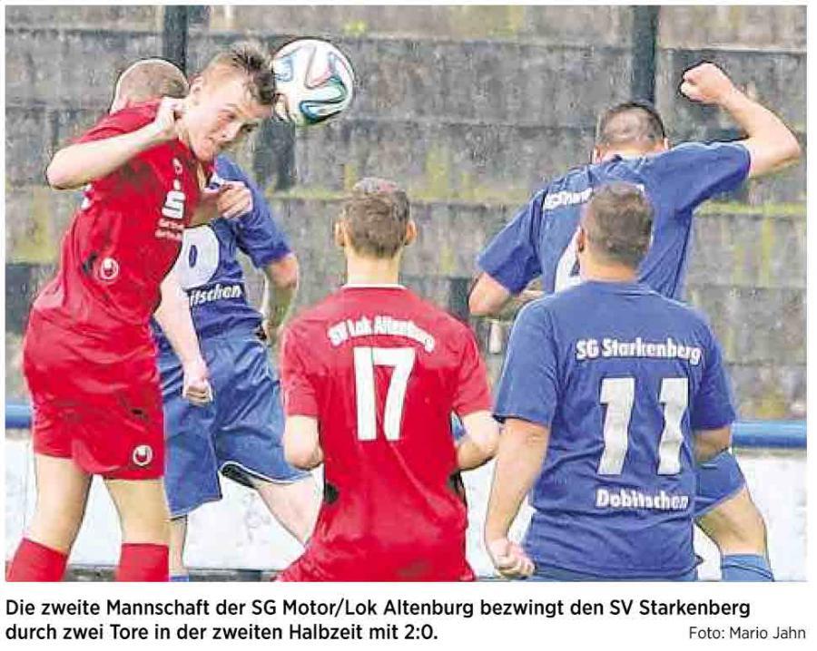 OVZ 2014.08.06 Fussball SG Motor Lok II gegen SV Starkenberg Bild
