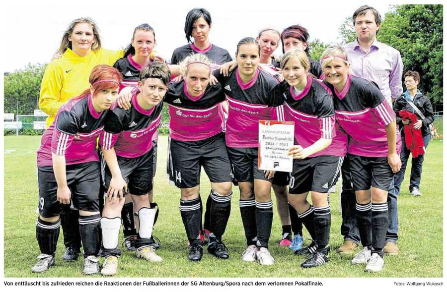 OVZ 20140624 Fussball SG Lok Spora Frauen 2014 Kreispokal Bild1