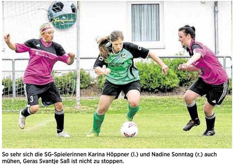 OVZ 20140624 Fussball SG Lok Spora Frauen 2014 Kreispokal Bild2