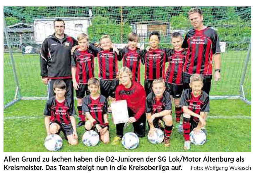 OVZ 20140627 Fussball SG Lok Motor D-Jugend sind Kreismeister D-Junioren stürmen in die Kreisoberliga Bild