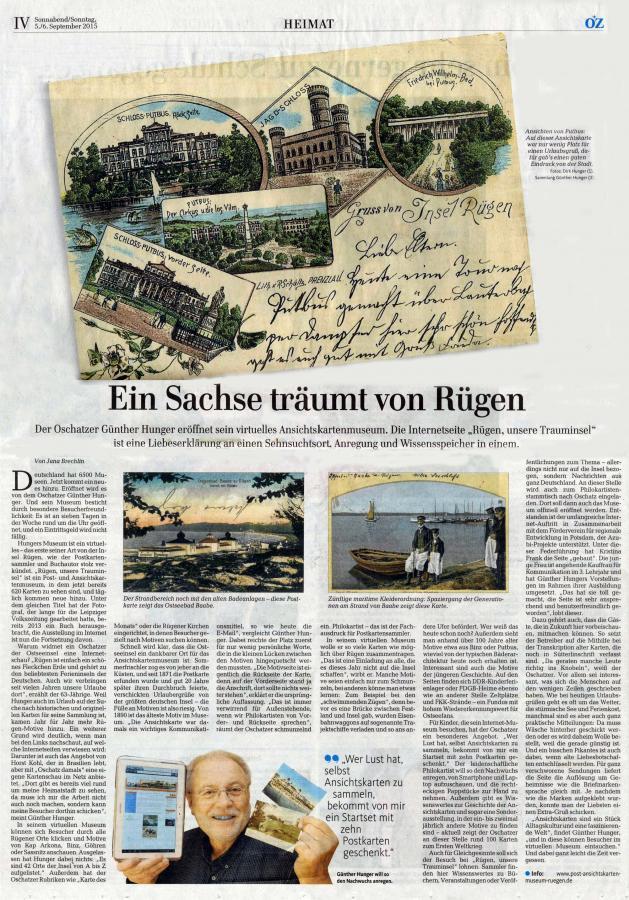 Ostsee-Zeitung 5.9.2015