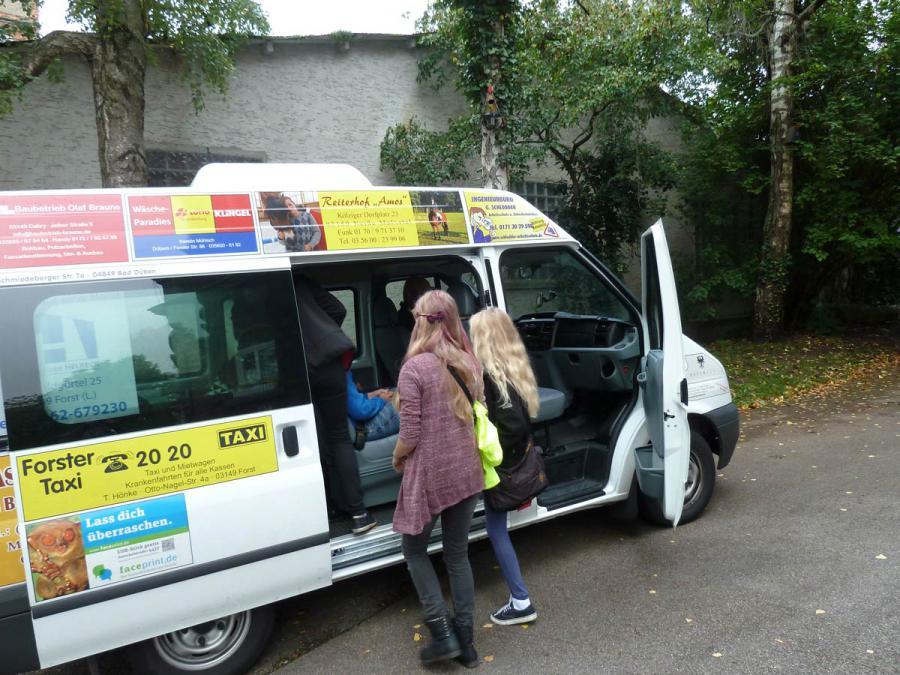 Unterwegs waren wir mit unserem Schulmobil