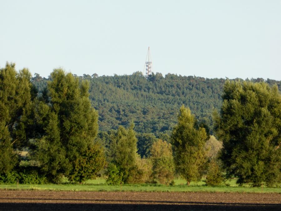 Götzer Turm an der Havel von unserer Schafweide aus fotografiert