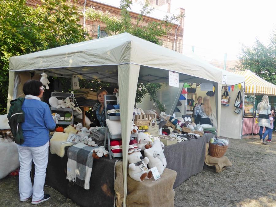 unser Marktstand am Paulikloster 2018