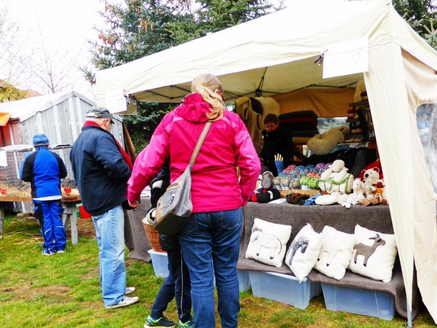 Wollstand in Mahlenzin 2019-Osterbaumfest