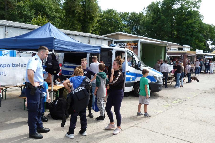 19. Regionalparkfest - Stand der Bundespolizei