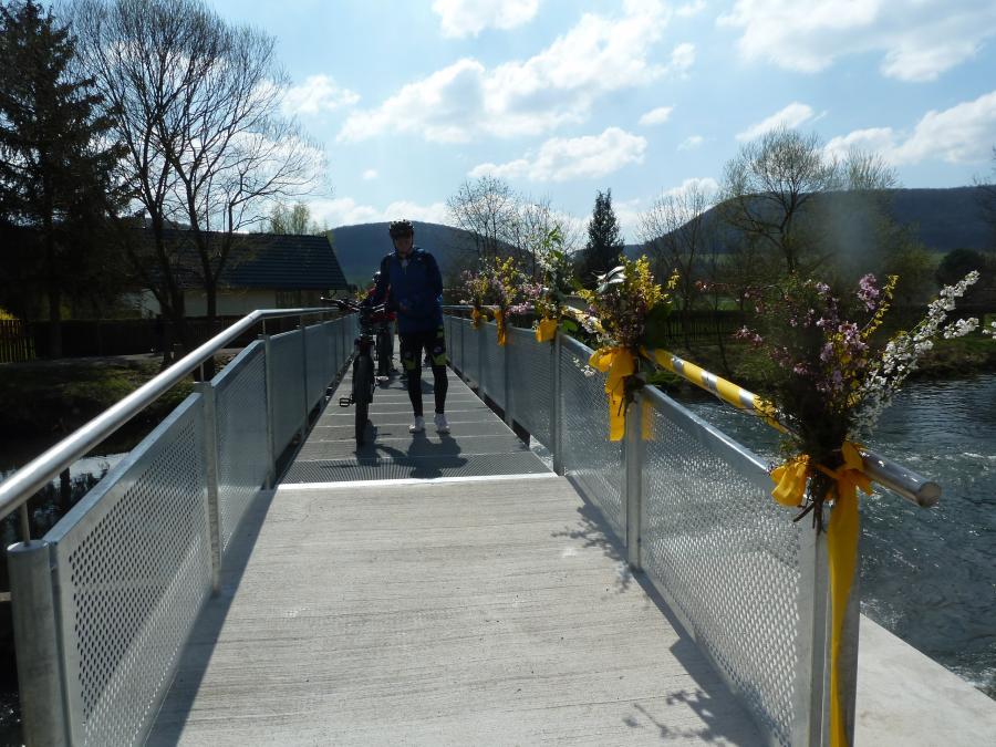 7.4.2019 - Die Brücke wird offiziell ihrer Bestimmung übergeben.
