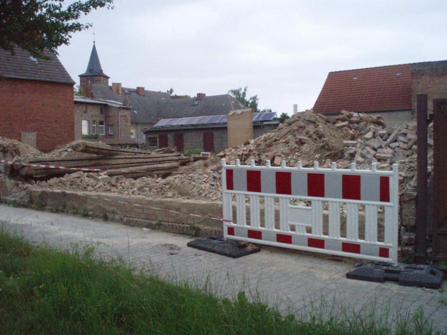 Die Alte Apotheke abgerissen, ©Stephan Becker, Brüssow