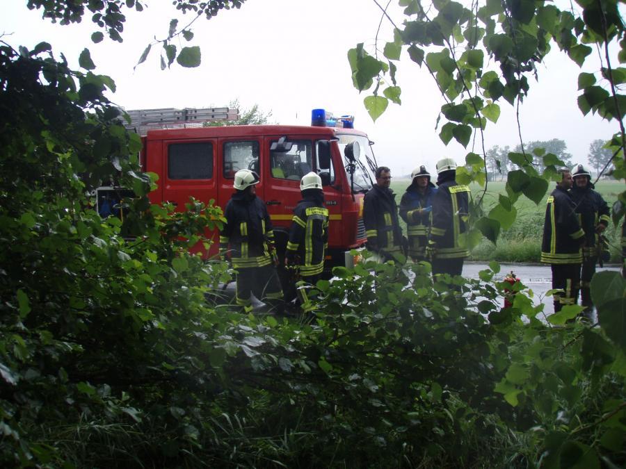 EInsatz der Feuerwehr Seester an der L109