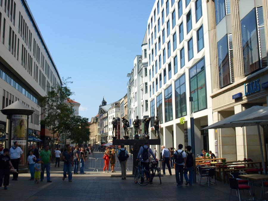 Fußgängerzone Leipzig