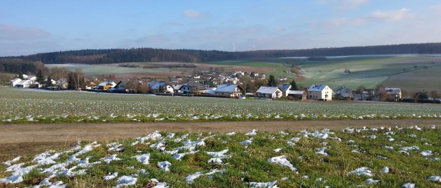 Panorama Bettendorf im Januar