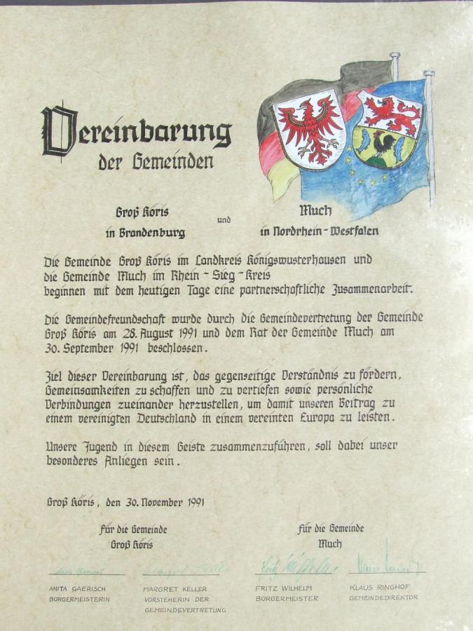 Partnerschafts-Urkunde