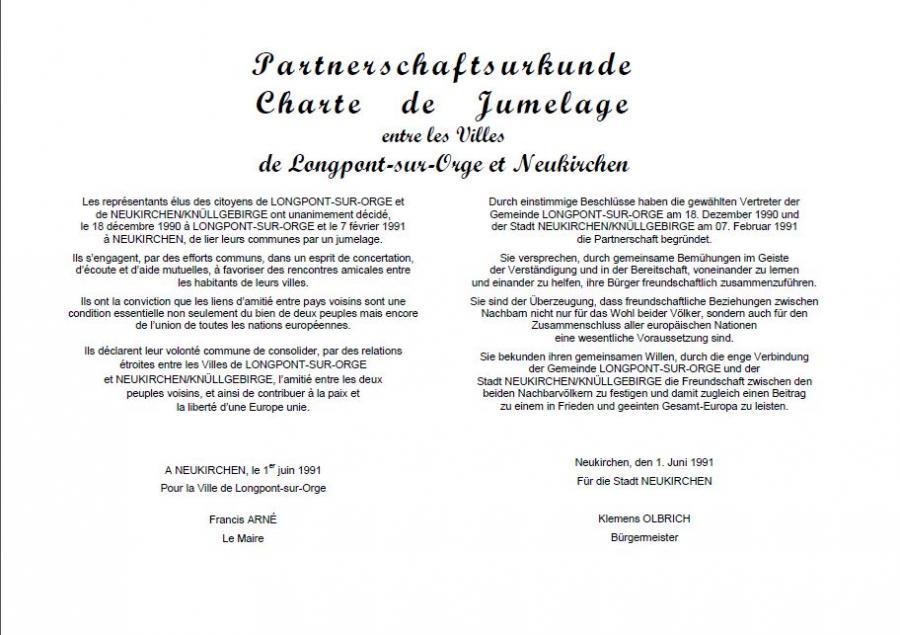 Partnerschaftsurkunde Seite 1