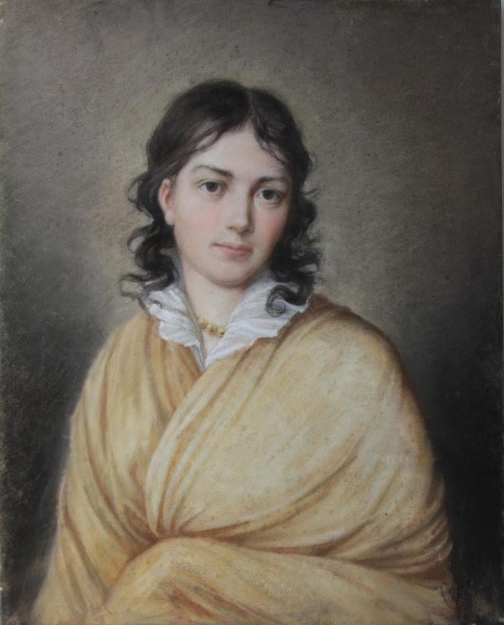 Pastellbild der Bettina von Arnim