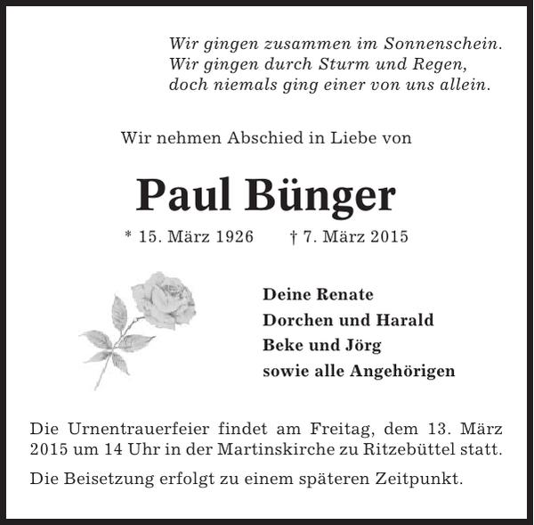 Paul Bünger