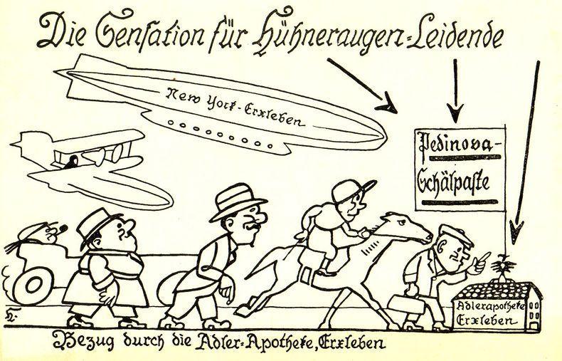 Pedinove Schälpaste - von New York bis Erxleben bekannt.