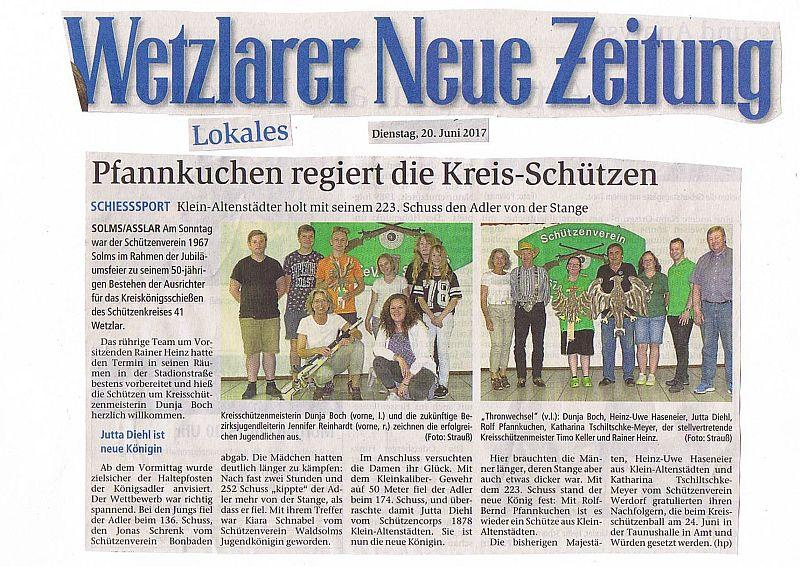 Pfannkuchen regiert die Kreis-Schützen 20.06.2017