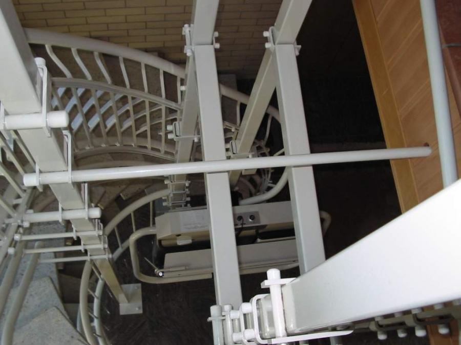 Plattformlift, Wendeltreppe, Innenanlage