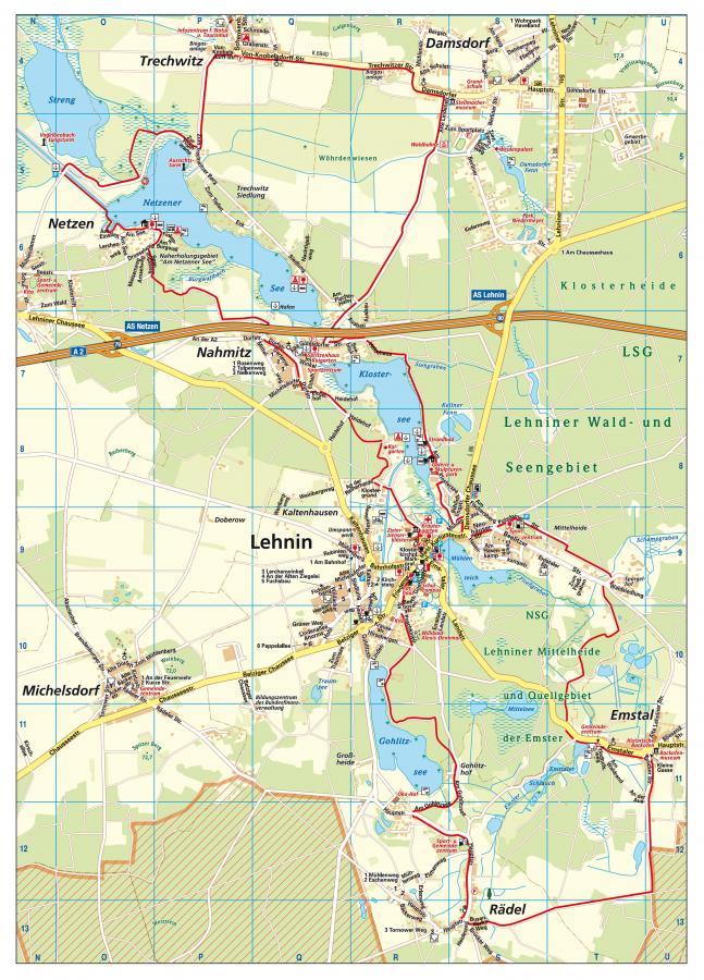 Karte Pilgerwanderweg