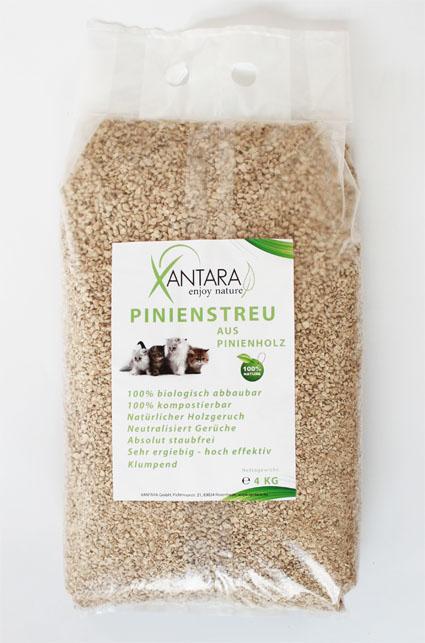 Pinienstreu von Xantara, ein natürliches Katzenstreu