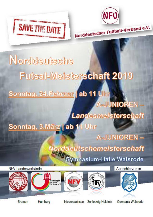 Plakat - Save the Date -A-Junioren Futsal