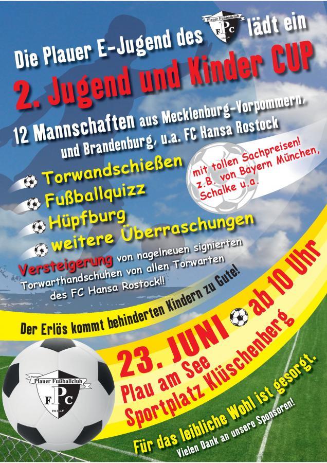 Plakat_2 Kinder und Jugendcup_Plauer FC