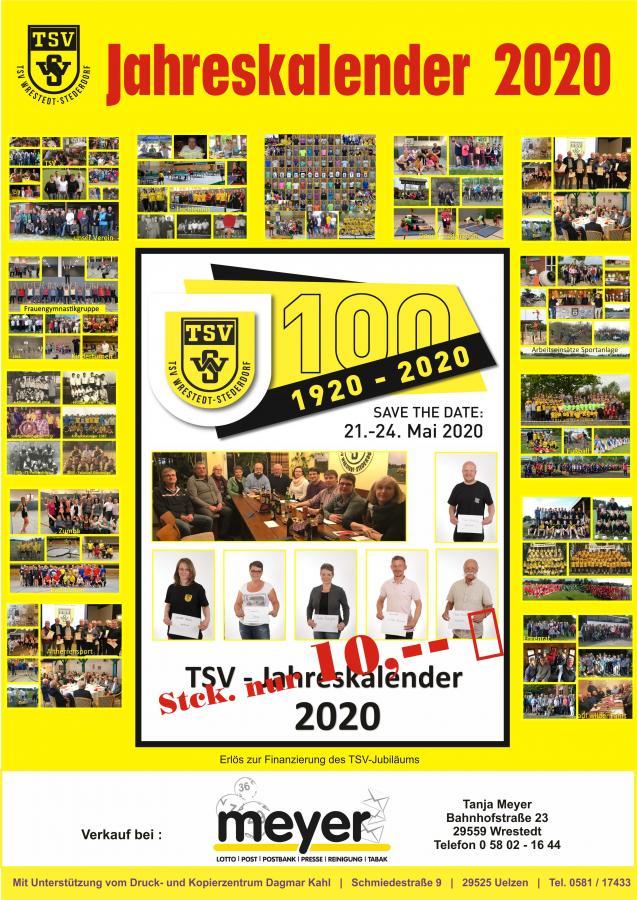 Jubiläumskalender 2020